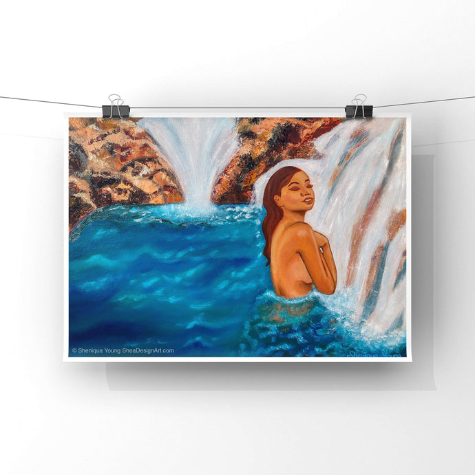 Oasis Waterfall Art Prints
