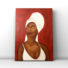 Load image into Gallery viewer, Red African American Woman Acrylic Painting