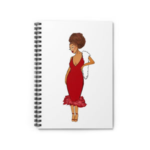 Red Afro Spiral Notebook - Ruled Line