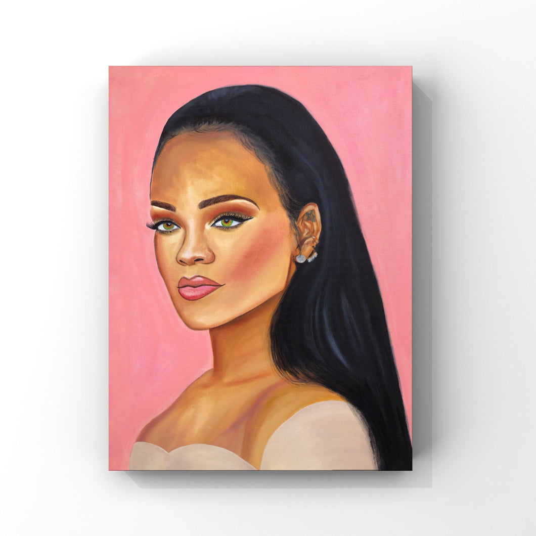 Rihanna Oil Painting