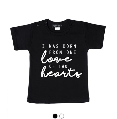 Tshirt - Zwart / Wit - One Love