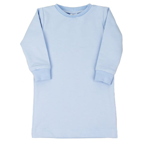 Tshirtdress - Powder Blue - Lange/korte Mouw
