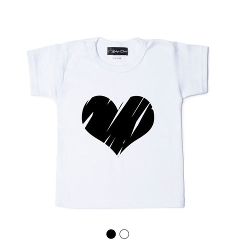 Tshirt - Zwart / Wit - Big Heart