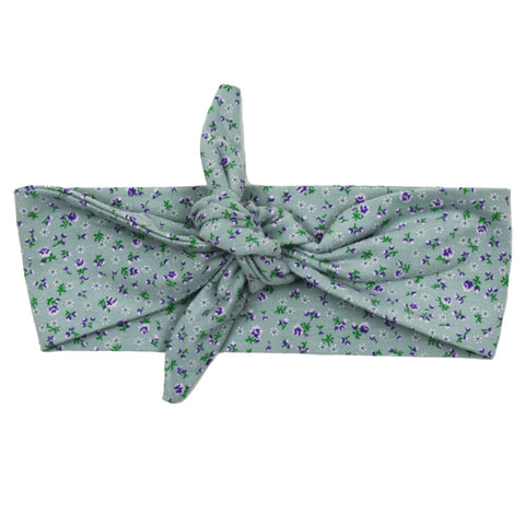 Haarband - Mini Flower Old Green - Knoop