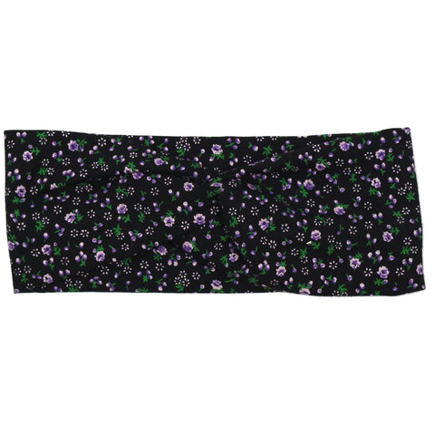 Haarband - Mini Flower Black - Twist