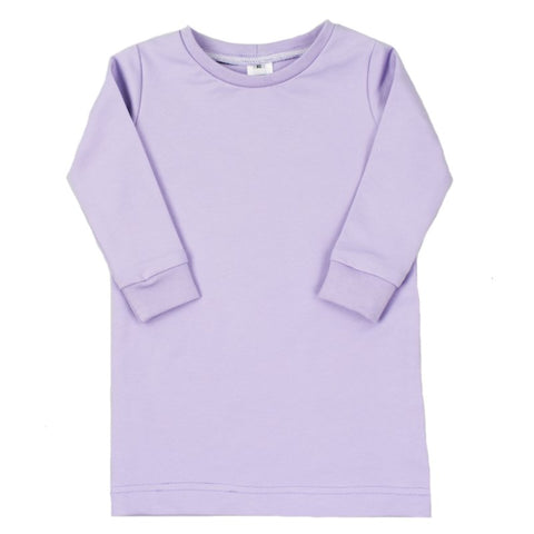Tshirtdress - Purple Rose - Lange/korte Mouw
