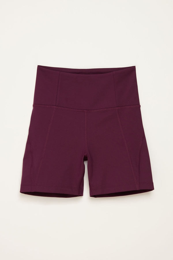 High-Rise Run Short - Plum