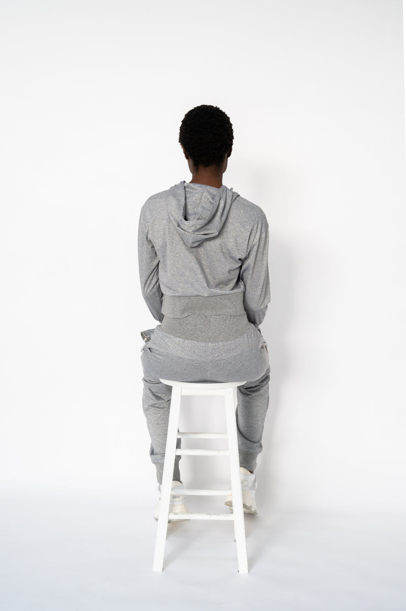 Hi-Rise Sweatpant - Heather Grey