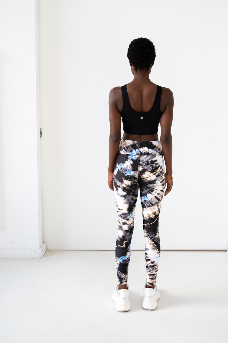 Teagan Ankle Legging - Deep Sea Tie Dye