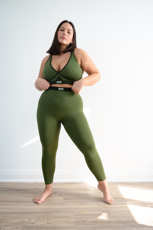 Bonded Active Legging - Tactical Green