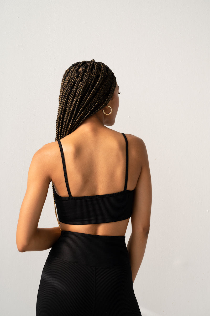 Ribbed Bralette - Black