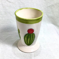 Verre à café ou à bière motif cactus et succulentes. Beer or coffee mugs with cactus design