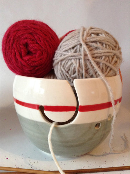knitting bowl, Yarn Holder, perfect knitting gift