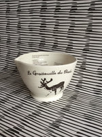 Bol avec gratte ail intégré .Garlic butter dish,ceramic cookware,gift for chef, ginger grater with deers