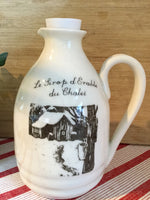 Maple syrup pitcher handmade for your cottage with a cute image of a sugar shack