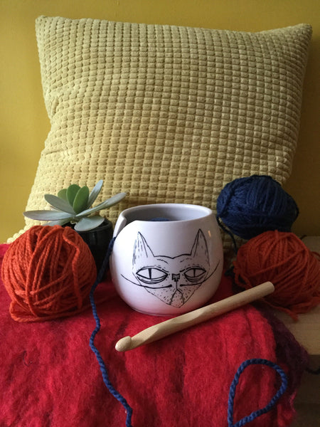 Small yarn bowl for crochet or knitting
