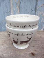 French coffee bowl,Cafe au lait bowl, Cottage stoneware,coffee bowl,pottery cereal bowl,soup bowl,housewarming gift