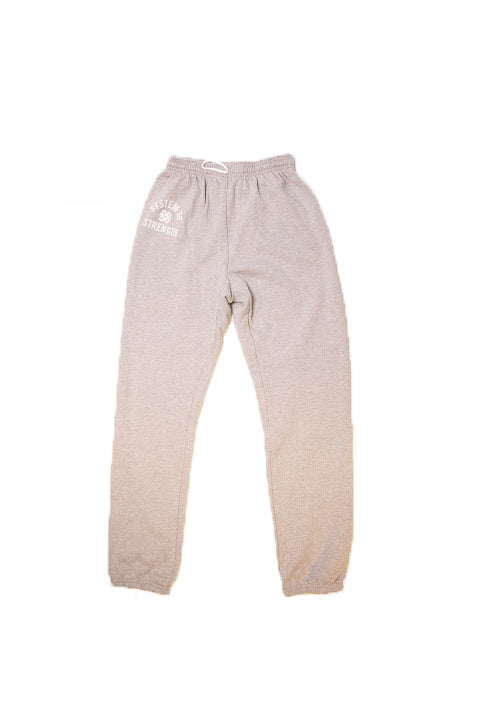 Unisex Athletic Grey Sponge Fleece Sweatpants