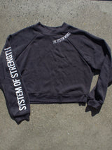 Cropped Crewneck 'The System Works' Sweatshirt