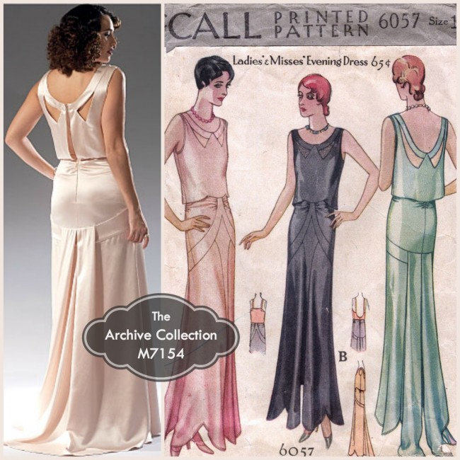 1930s Evening Gown Pattern McCall's M7154 OOP McCall 6057 Wedding Dress Bride Dance Prom Reissue Size 6 - 14 Uncut Womens Vintage Sewing Pattern - Kinseysue's Shop
