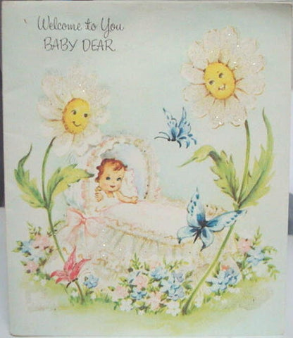 1950s New Baby Greeting Card Vintage Baby Card Unused New Parents Pop Out Card Vintage Greeting Card Buzza-Cardozo West Germany