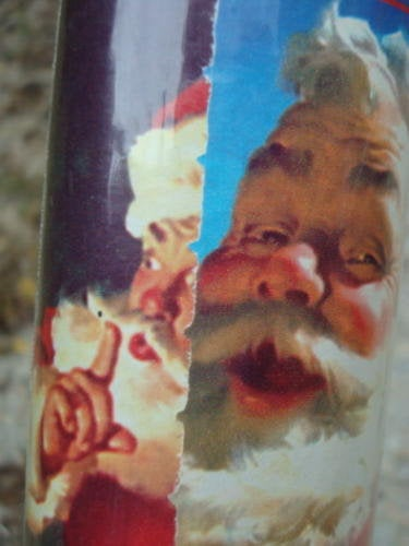 Vintage Christmas Wrapping Paper Coca Cola Coke Santa Claus Sealed Package One Roll Christmas Gift Wrap #8