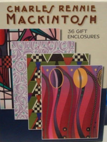 Gift Enclosures 36 with Envelopes Charles Rennie Mackintosh Arts & Crafts Designer New in Box Never Used Gift Tags All Occasion Gift Cards