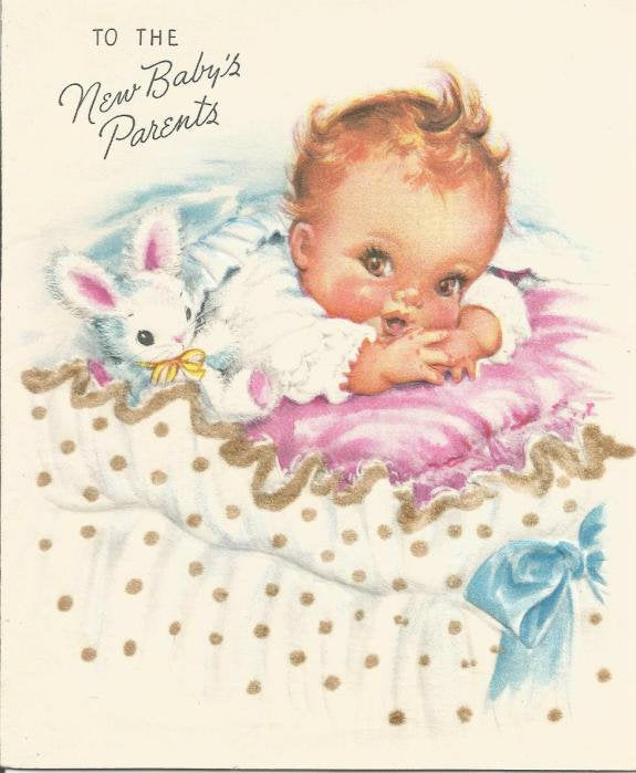 Vintage Congratulations & Best Wishes to the New Baby's Parents Used No Envelope Inventory 7