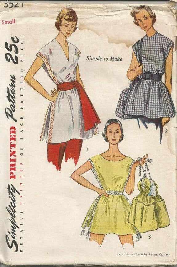 1950s Women's Poncho in 2 Lengths Sash Bag Simplicity 3521 Uncut FF Bust 31 - 32 Women's Vintage Sewing Pattern