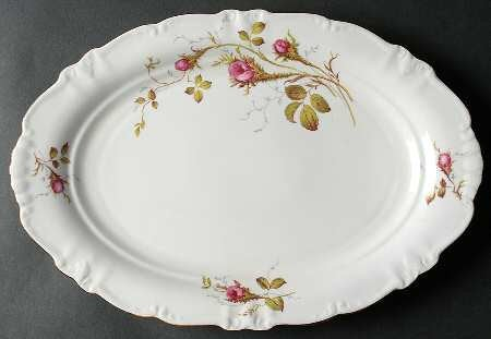 Vintage Moss Rose Large Serving Platter 15 Inches Winterling Bavaria