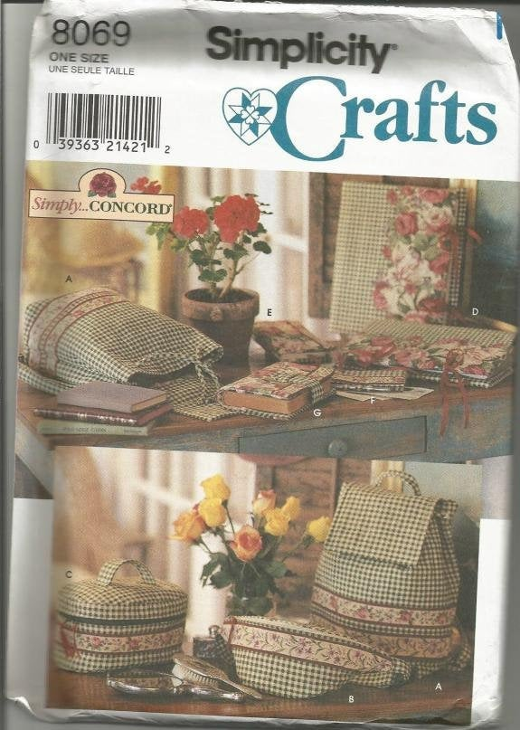 1990s Crafts Back Pack Cosmetic Case Album Cover & More Simplicity 8069 UNCUT FF Vintage Sewing Pattern Craft Pattern
