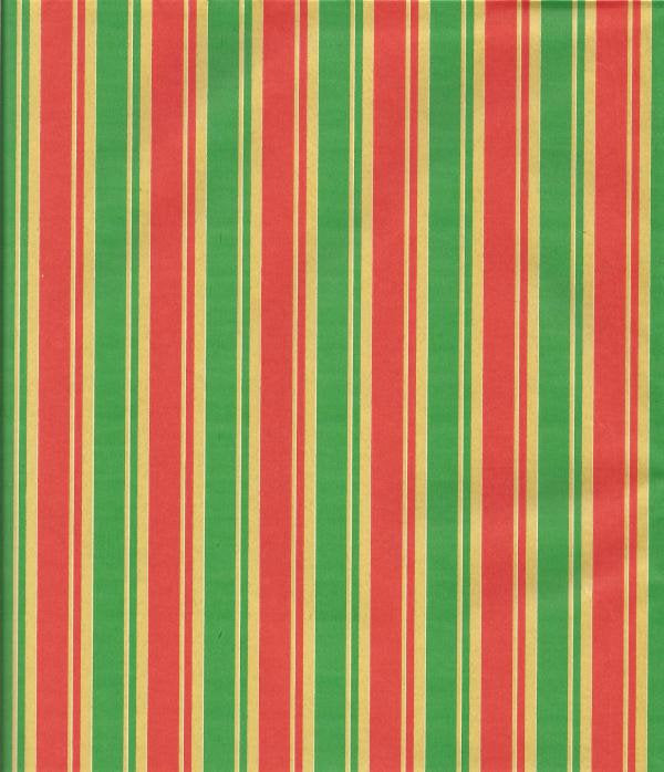 Vintage Woolworth Dime Store Christmas Wrapping Paper Red Green & Gold Stripes Christmas Gift Wrap Christmas Decoration One Flat Sheet