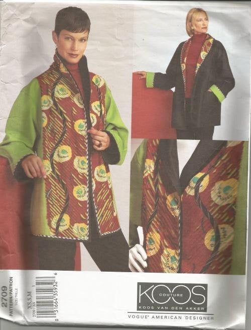 Misses' Reversible Jacket Vogue 2709 UNCUT FF Bust 30.5 - 36