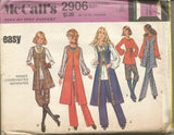1970s Misses' Hippie Era Wardrobe Knickers Peasant Blouse Duster Vest Pants Easy to Sew McCall's 2906 UNCUT FF Bust 32.5 Women's Vintage Sewing Pattern