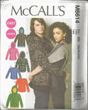McCalls 6614/8084 Unisex Hoody & Top Bust/Chest 46-56 UNCUT