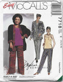 Easy to Sew Wardrobe Pants Cami Jacket Hat UNCUT Bust 36-40