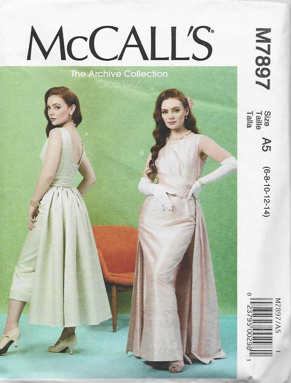 McCall's 7897 Retro Cocktail/Evening Dress UNCUT FF Sz 6-14