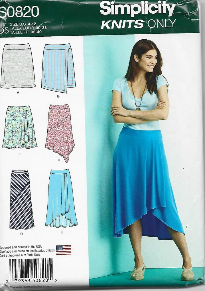 Skirts For Knits Only SIX Styles Simplicity 0820 UNCUT FF