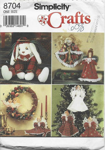 ChristmasWreath/Decorations/Ornaments Simplicity 8704 UNCUT