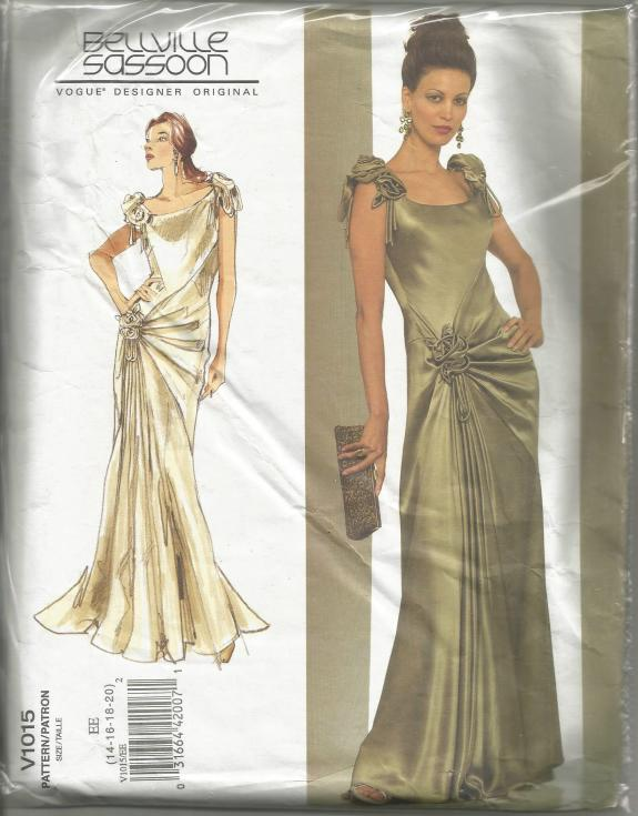 Bellville Sassoon Evening Gown Vogue 1015 FF sz 14-20