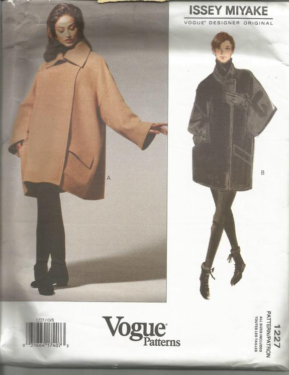 1990s Issey Miyake Oversized Coat Vogue 1227 Sizes S M L Uncut FF
