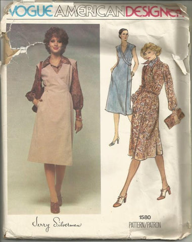 Vogue 1580 Wrap Dress or Jumper UNCUT FF Bust 31.5