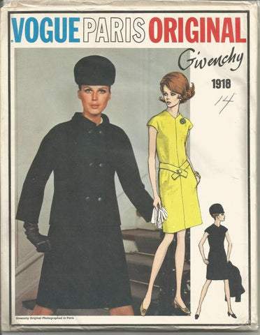 1960s Givenchy Dress and Jacket UNCUT FF Vogue 1918 Bust 36