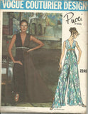 1960s Hostess Gown Loungewear Palazzo Pants Pucci UNCUT FF Label Vogue 2249 Bust 36