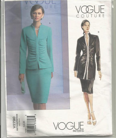 Vogue 2790 Shirred Jacket & Slim Skirt UNCUT FF Bust 30.5-32.5
