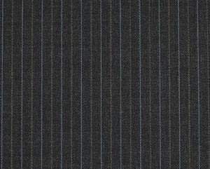 Multi Stripe Charcoal with Blue and Grey, Super 170, Wool