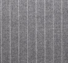 Load image into Gallery viewer, Light Grey Worsted Pinstripe, Super 160, Wool