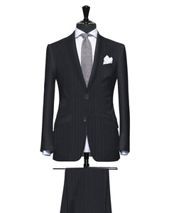 Multi Stripe Grey with Pink Pinstripe, Super 170, Wool