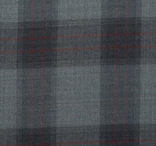 Load image into Gallery viewer, Charcoal and Grey with Subtle Red Accent, Super 160, Wool