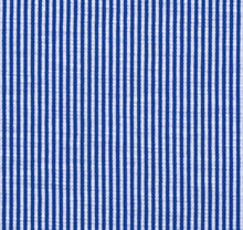 Load image into Gallery viewer, Azure Blue Stripe Knit Stretch Cotton